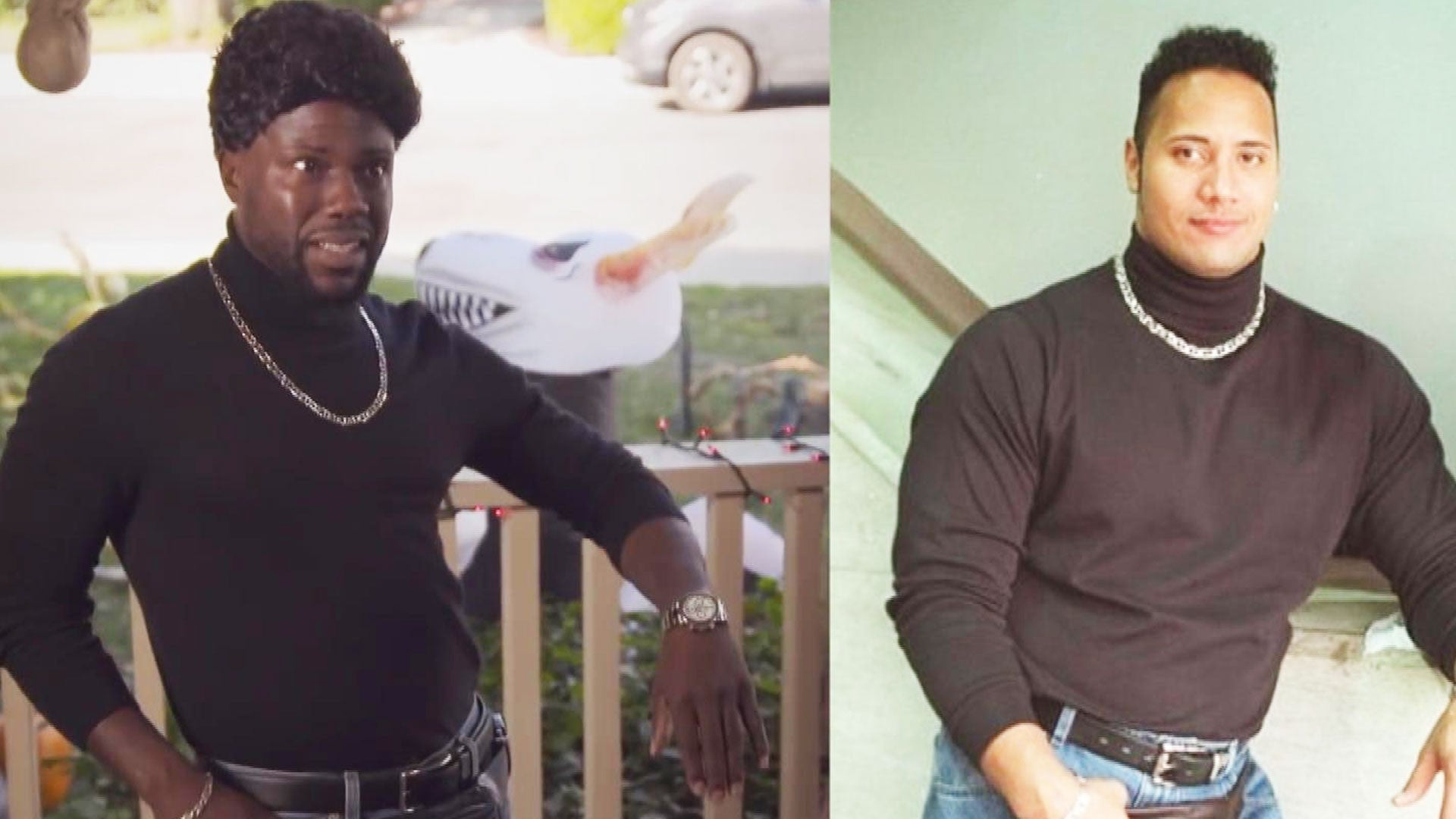 Kevin Hart Dresses Up As Dwayne The Rock Johnson For