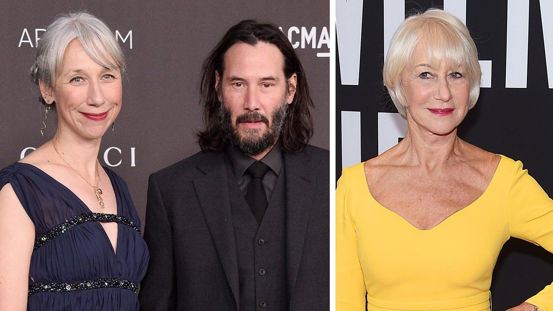 Helen Mirren Says It Was Very Flattering To Be Mistaken For Keanu Reeves Girlfriend Exclusive Entertainment Tonight