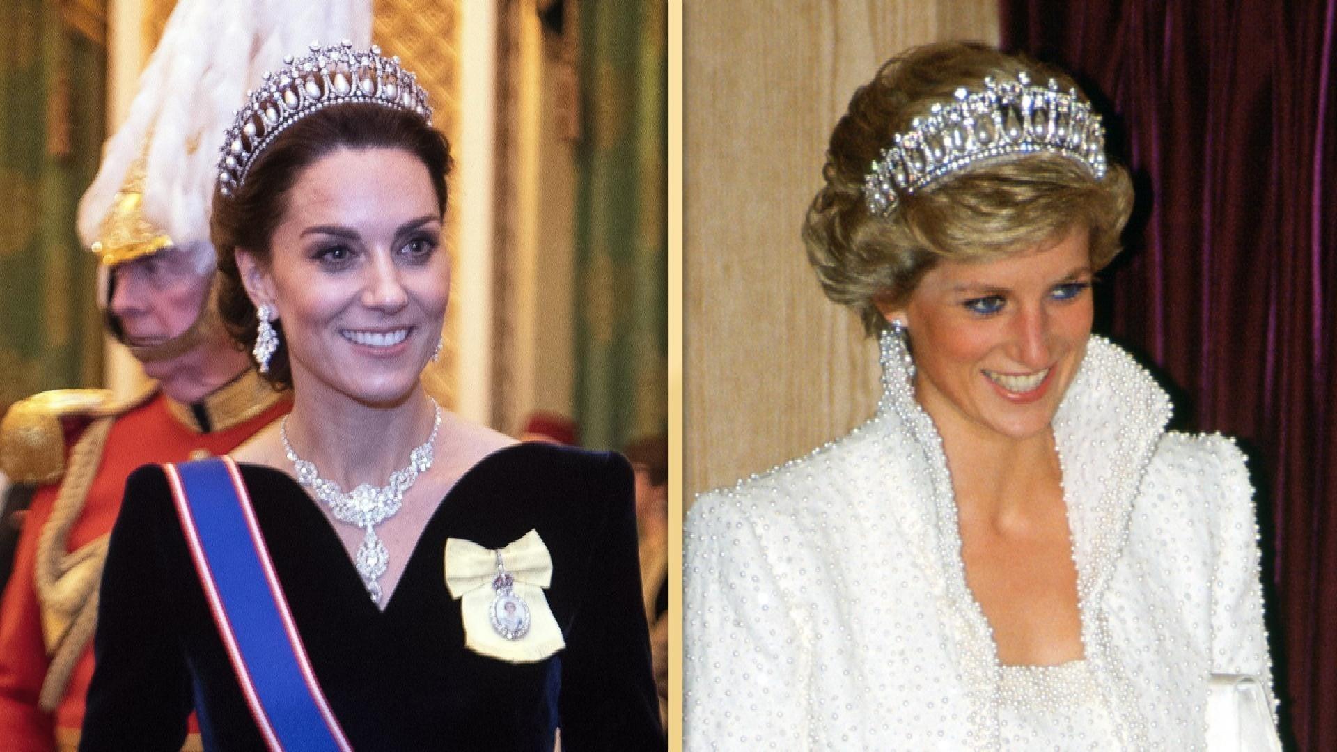 Kate Middleton Recycles Princess Dianas Tiara As Queen