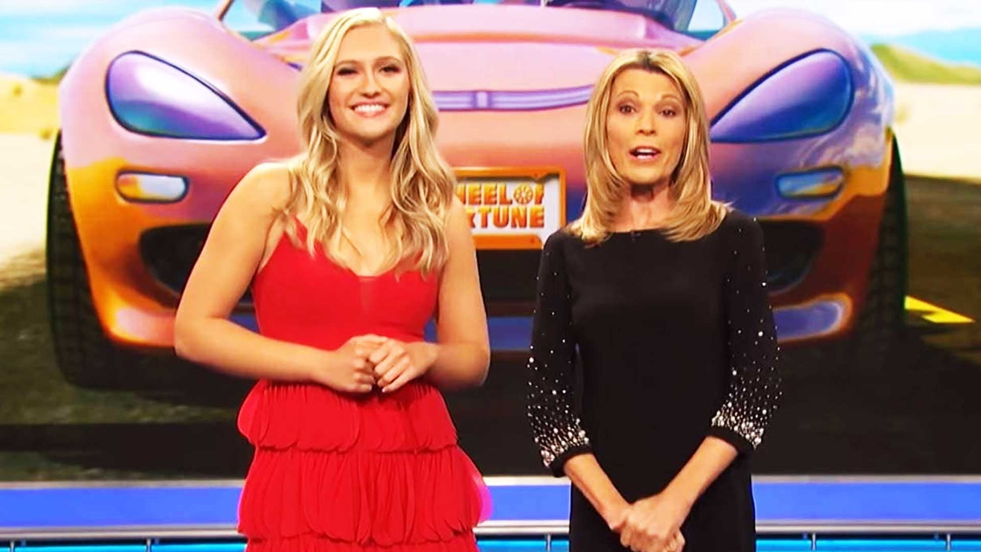Pat Sajak S Daughter Joins Wheel Of Fortune As Guest Letter Turner While Vanna White Hosts Entertainment Tonight