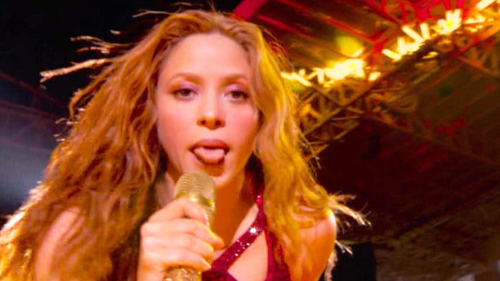 Shakira S Tongue Inspires Biggest Super Bowl Meme Here S The Meaning Behind It Entertainment Tonight