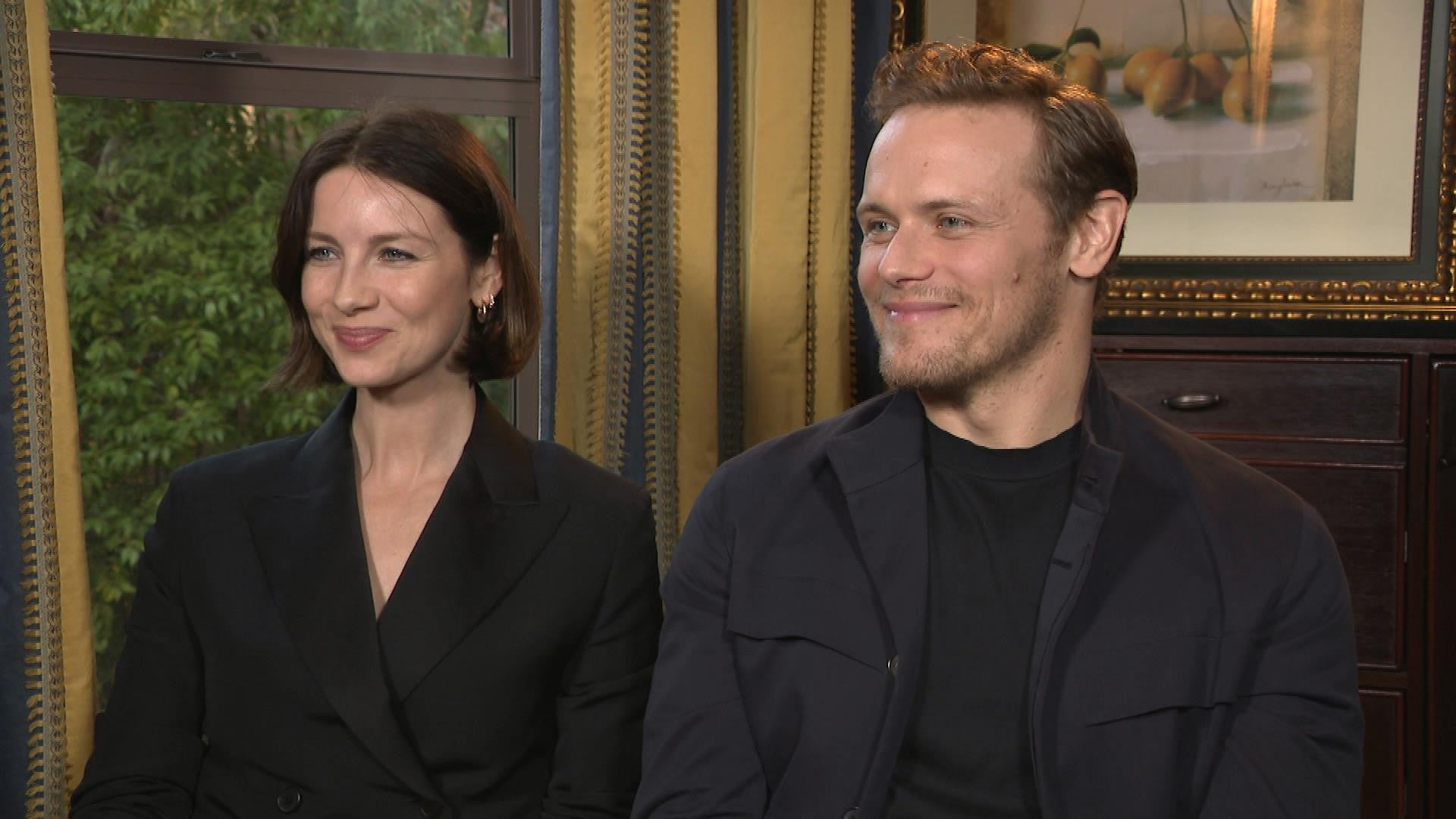 Outlander Caitriona Balfe And Sam Heughan On How Claire And Jamie S Love Deepens In Season 5 Exclusive Entertainment Tonight