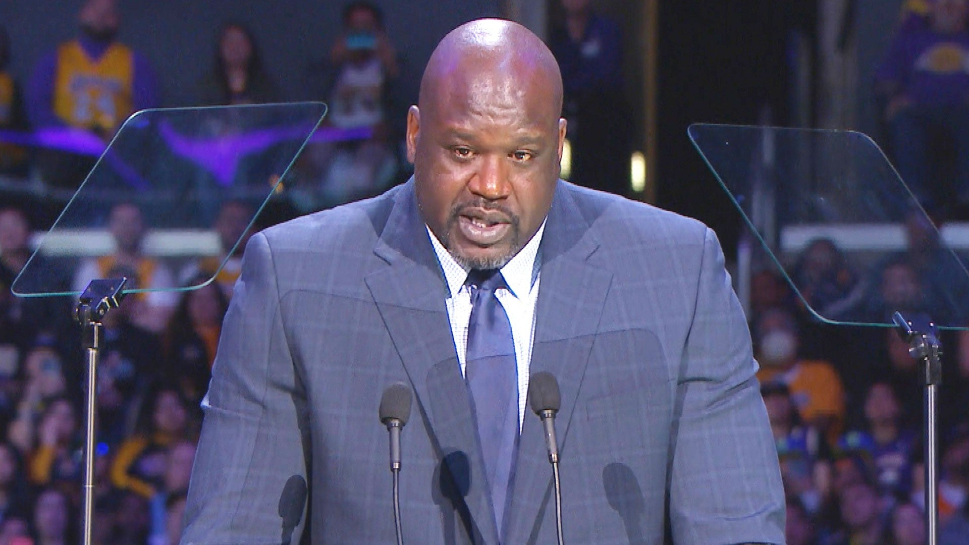 Shaquille O Neal Remembers Kobe Bryant In Touching Memorial Speech Entertainment Tonight
