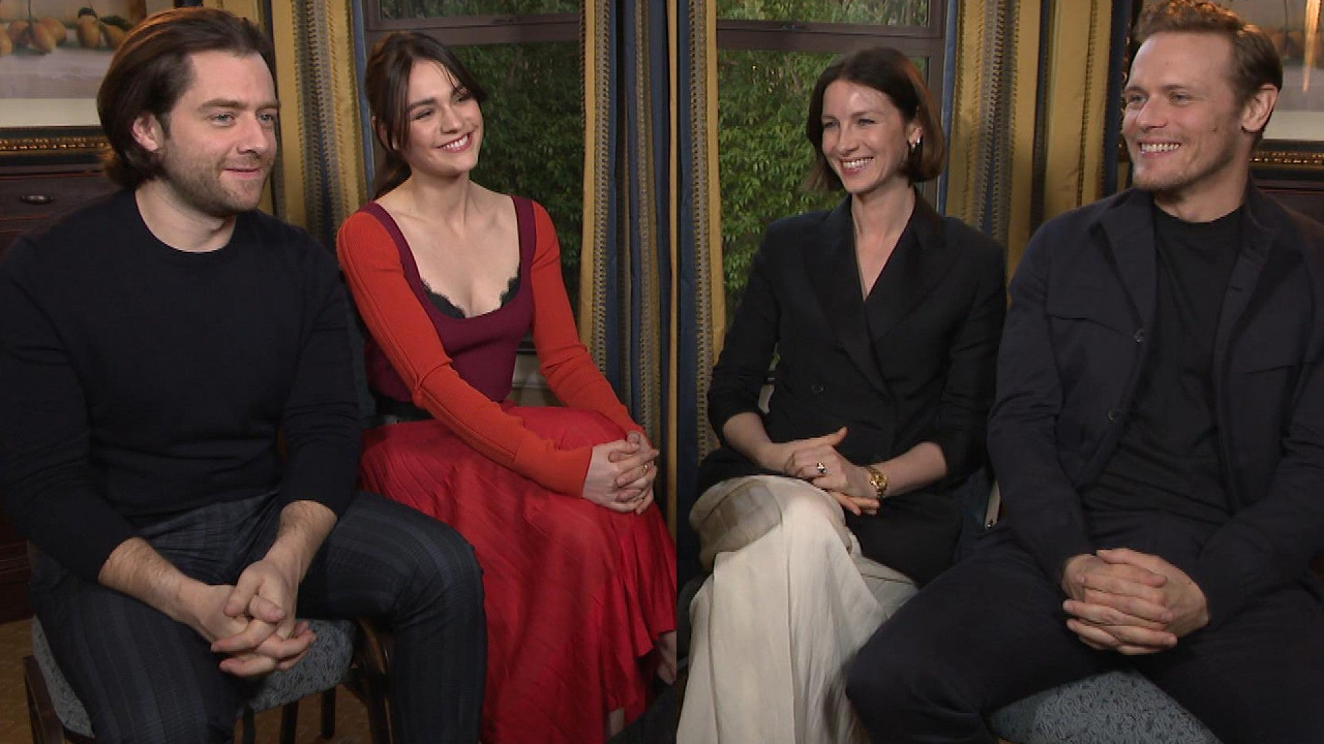 Outlander Season 5 Sam Heughan And Caitriona Balfe On Favorite Episode Set Secrets Exclusive Entertainment Tonight