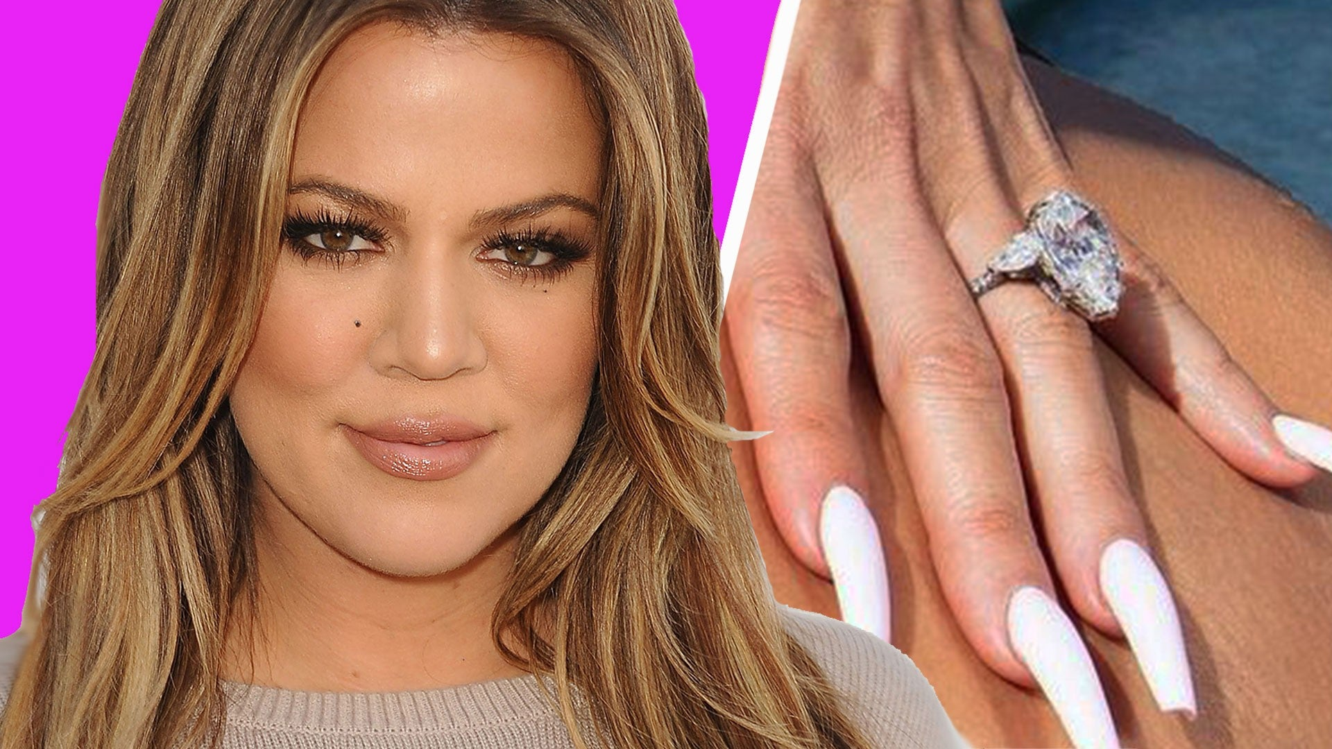 Tristan Thompson Comments On Khloe Kardashian S Massive Diamond Ring Entertainment Tonight