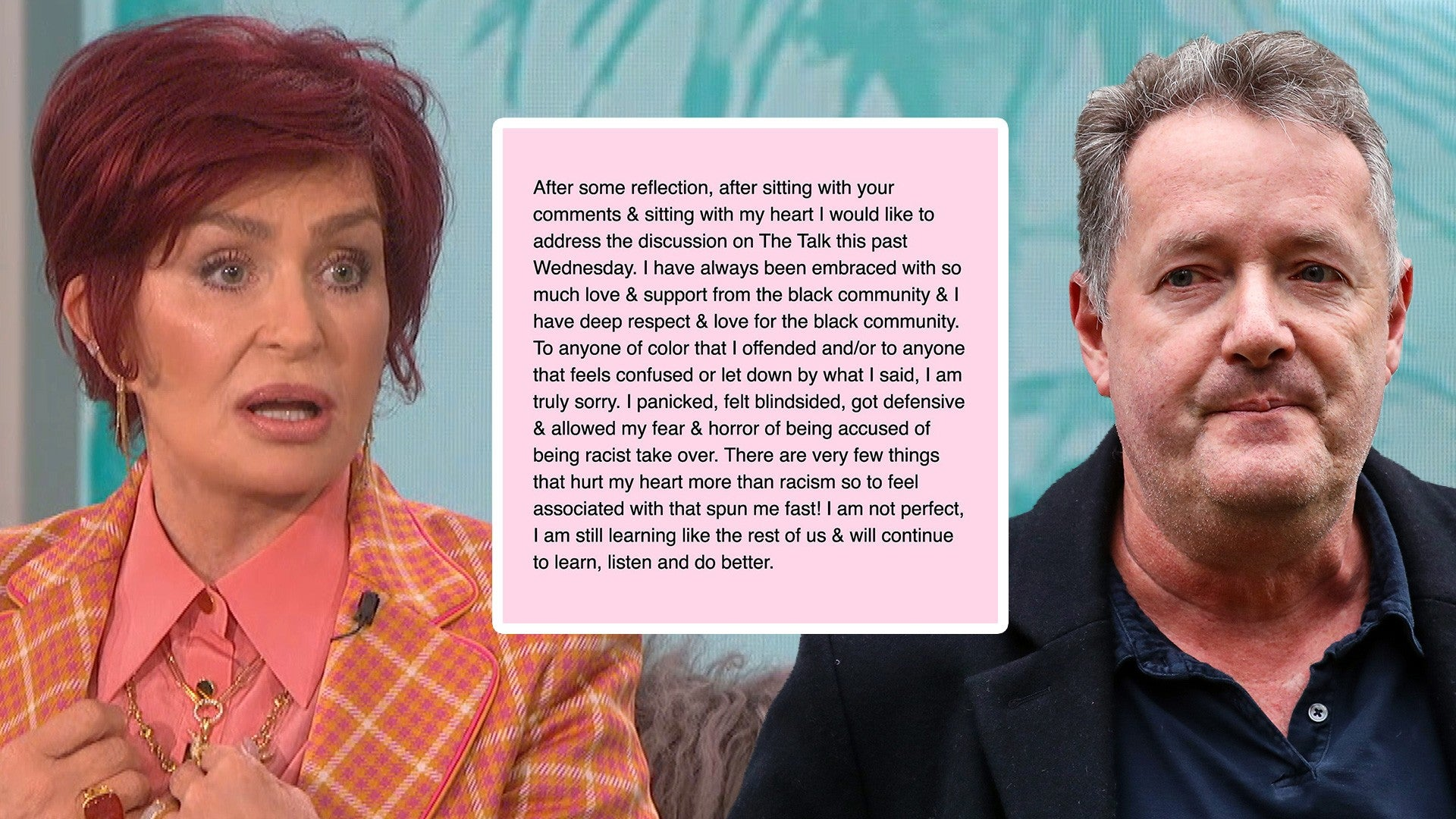 Sharon Osbourne Says She Was Totally Blindsided By The Talk Heated Debate Entertainment Tonight