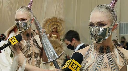 Grimes Accessories Met Gala Look With a Sword!