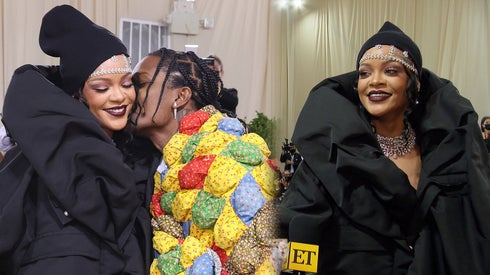 2021 Met Gala: Rihanna and A$AP Rocky Arrive Fashionably Late (Exclusive)