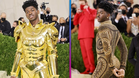 Met Gala 2021: Watch Lil Nas X Quick Change From Gold Armor to Glittery Bodysuit