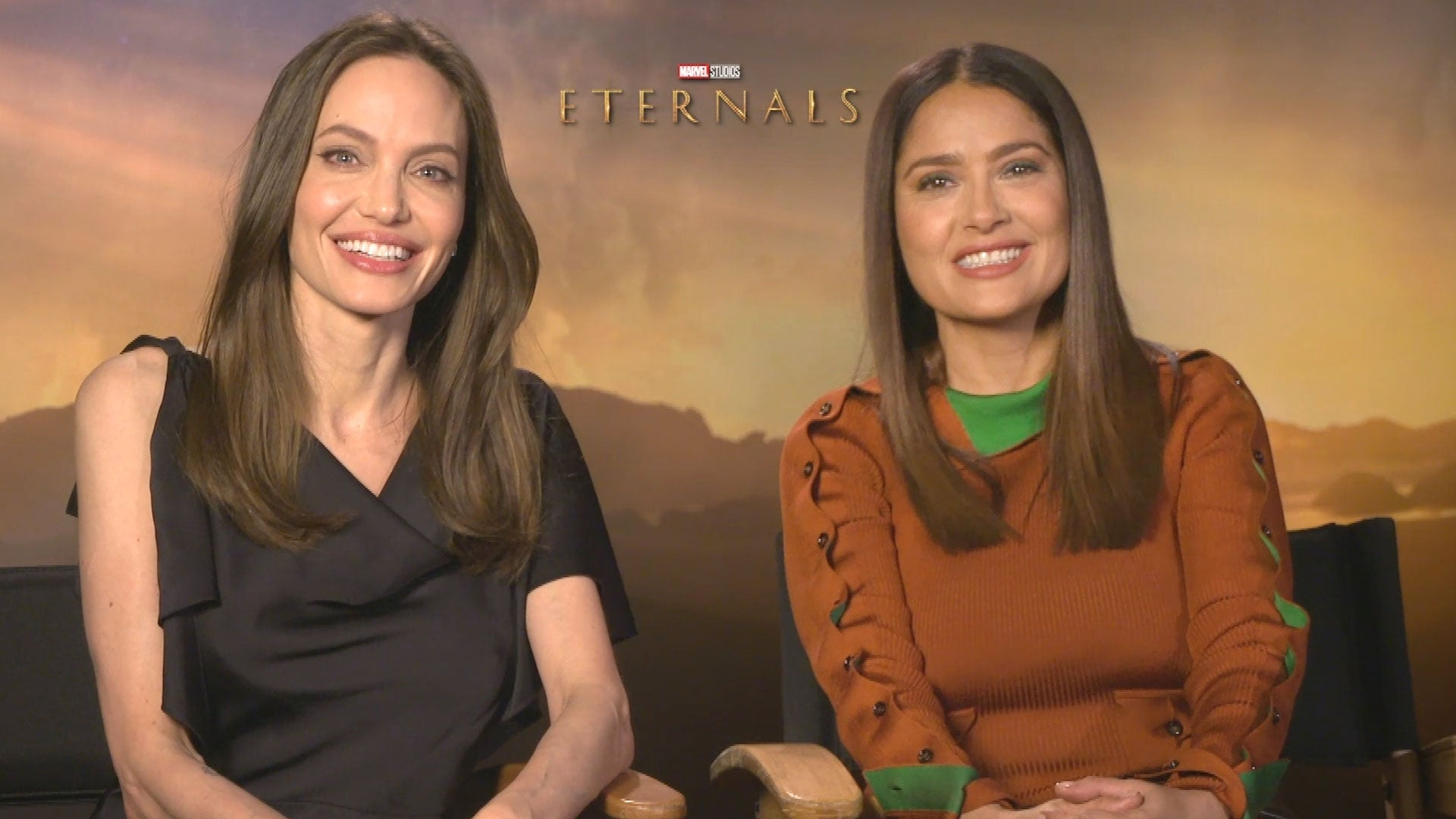 Angelina Jolie and Salma Hayek on Bonding Over Motherhood and Possible 'Eternals' Sequel (Exclusive)