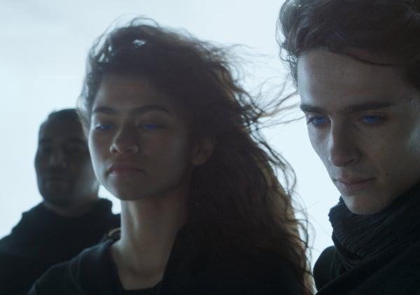 Zendaya and Timothée Chalamet in 'Dune.'